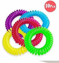 DoGeek Moskito Armbänder Hochwertiger & Natürlicher Insektenschutz Armband Mückenschutz Armband für Kinder und Erwachsene (10 Stück)