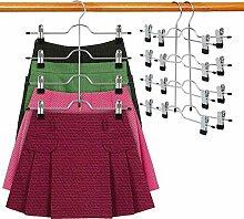 DOIOWN Kleiderbügel für Röcke, Hosen, 4 Etagen,
