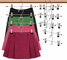 DOIOWN Rock-Kleiderbügel, 12 Stück, für Hosen,