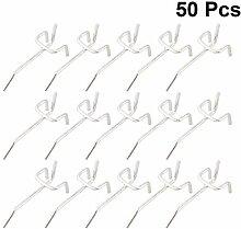 Doitool 50 Stück Haken für Lochplatten Haken