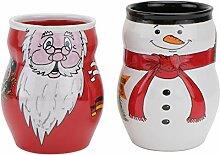 DOITOOL Weihnachtskaffeetasse Weihnachts-Teetasse