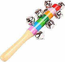 Doitsa Rasseln Baby Holz Rainbow Stick Shaker 10