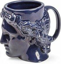 DOIY - Hestia Becher mit Henkel, blau