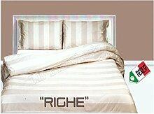 Dolce notte-invenale Steppdecke für Einzelbett; Queensize-Bett Bettbezug Set Shabby Chic Style Gestreift Grau