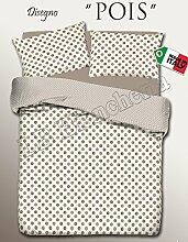 dolcenotte Queensize-Bett komplett Bettwäsche Set für Doppelbett, 1und eine Hälfte, Spots, baumwolle, blau, Queen