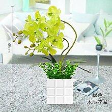 Dolo Kunstblume Kunstblume Phalaenopsis Holz