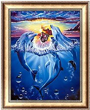 Dolphin 5D Diamant DIY Malerei Kreuzstich Craft