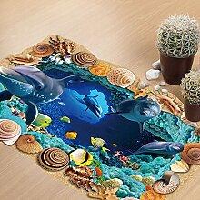 Dolphin Unterwasserhöhlen Boden 3D Aufkleber