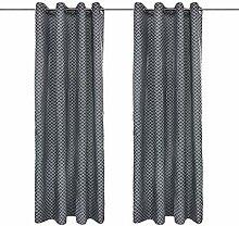 DOMDIL 3D Gardinen Vorhang Bedruckt Outdoor Indoor