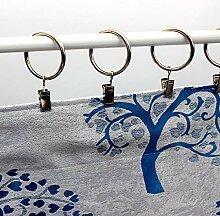 DOMDIL Gardinenringe Vorhangringe für
