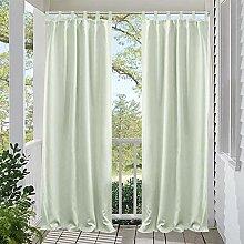 DOMDIL Outdoor Vorhang 8 Stück Schlaufengardinen
