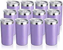 DOMICARE 340 ml Becher mit Deckel,