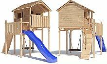 Domizilio Spielturm Kletterturm Baumhaus Rutsche Schaukeln (ohne Schaukelanbau)