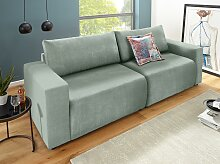 DOMO collection Big-Sofa Chenilleoptik, 252 cm,