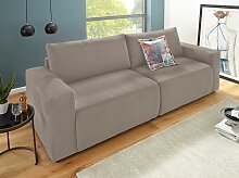DOMO collection Big-Sofa Struktur, 252 cm, ohne