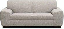 Domo Collection Incanto Sofa   2-Sitzer, hellgrau,