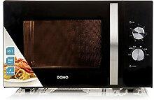 Domo DO2431 Mikrowelle mit Ofen schwarz-silber 30 l
