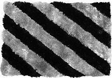 domodeko d7152Kofferraumwanne, Dekoration Polyester schwarz/grau 60x 90cm