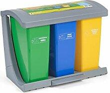 Domplex (785CI) Recycling-Mülleimer, ausziehbar,