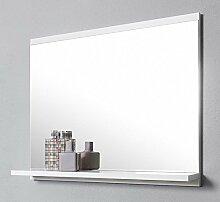 DOMTECH Badspiegel mit Ablage, Weiß Badezimmer