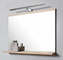 DOMTECH Badspiegel mit Ablagen Eiche Sonoma mit