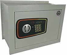 Domus Be/3P–Eine Safe mit Elektronikschloss Wanduhr, 6mm