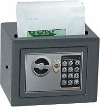 Domus HE/0 CASH Tresor für die Aufbewahrung von Bargeld, mit automatischem Schloss, Grau