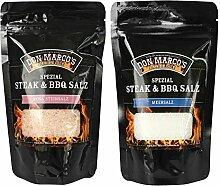 Don Marco`s KS0198 Don Marco´s Spezial Steak & BBQ Salz Set: Rosa Steinsalz & Meersalz