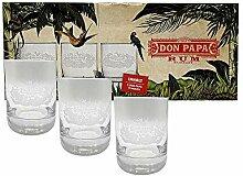 Don Papa Rum Tumbler Glas Gläser Longdrinkglas
