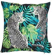Done »Leopard« Velour-Kissenhülle mit Print