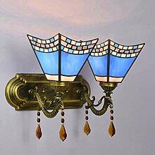 DONG Tiffany Stil Wandlampe, Glasmalerei Halterung