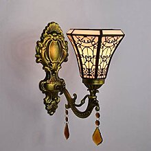 DONG Tiffany Style Wandleuchte, Farbe Crystal