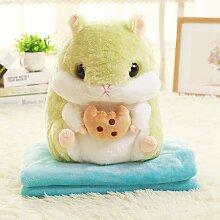 DONGER Hamster Chinchilla Pillow Quilt Auto-Kissen