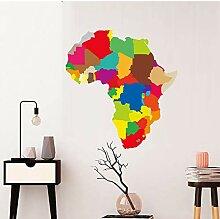 DongOJO Moderne Bunte Afrika Karte Applique