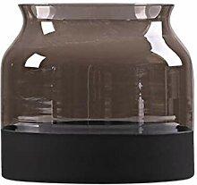 DONGXIN Vase Europäische Kreative Matte Grau