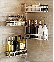 Dongyd Küche Lagerregal Gewürzkocher Regal Wand