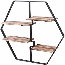 Dongyd Wandschmuck Designer Regal Hexagon