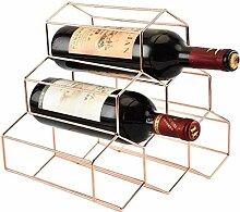 Dongyd Weinregal für 6 Flaschen, aus Metall,