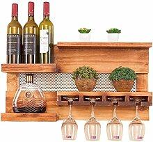 Dongyd Weinregal Wand Befestigte Wine Rack-Kiefer