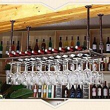 Dongyd Wine Rack Deckenregal für Weingläser,