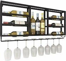Dongyd Wine Rack montiert mit Glashalter für die