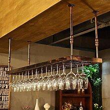 Dongyd Wine Rack Schmiedeeiserner Deckenständer