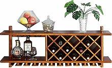 Dongyd Wine Rack Wandmontierter Weinschrank aus