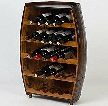 Dongyd Wine Rack Weinregal aus Massivholz für