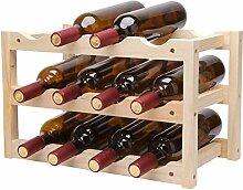 Dongyd Wine Rack Weinregal für 12 Flaschen,