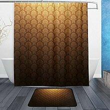 Donola Vintage Gold Duschvorhang-Set mit