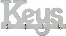 DonRegaloWeb–Kleiderbügel–Schlüsselanhänger Holz weiß Keys