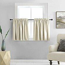 DONREN Verdunklungsvorhang für kleine Fenster –