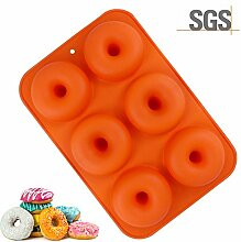 Donut Backblech, 6 Grids Silikon Backform