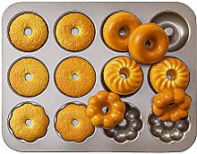 Donut-Backformen, 12 Mulden,
